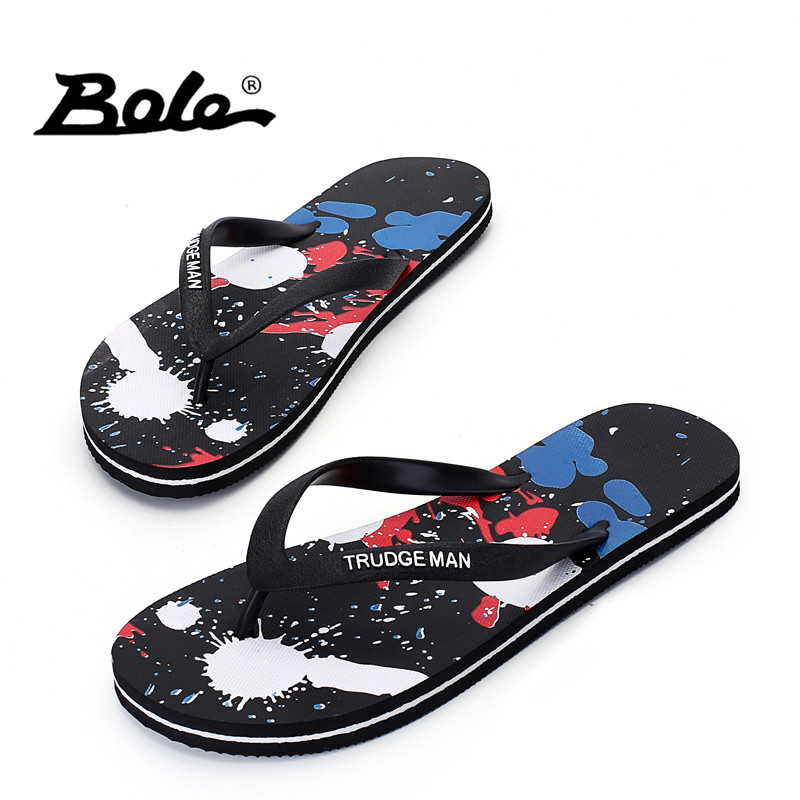Large Size 39-48 Beach Slippers Summer Breathable Men Flip Flops Shoes Open Toe Slipper Outdoor Flip-flops Male Shoes Colorful 2016 summer new men s massage sole flip flops personality simple slippers breathable fashion beach shoes size 40 44 b1953