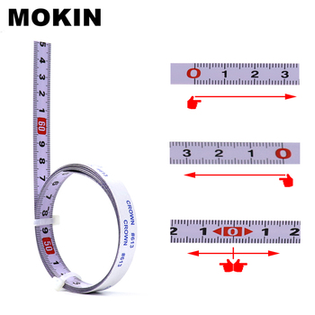 Miter Track Tape Measure Metric Self Adhesive Miter Saw Scale Steel Ruler For Router Table Saw T-track Woodworking Tools 1m miter track tape measure self adhesive metric steel ruler miter saw scale for router table saw band saw woodworking tool