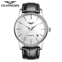 Haute qualité guanqin hommes montre top célèbre marque montre mécanique de luxe saphir étanche montres en cuir homme montres