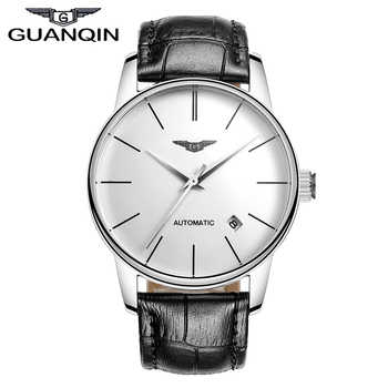 Quality GUANQIN Watches Men Top Luxury Brand Automatic Mechanical Watch Hardlex Waterproof Watches Leather Male Wristwatches - DISCOUNT ITEM  49% OFF All Category