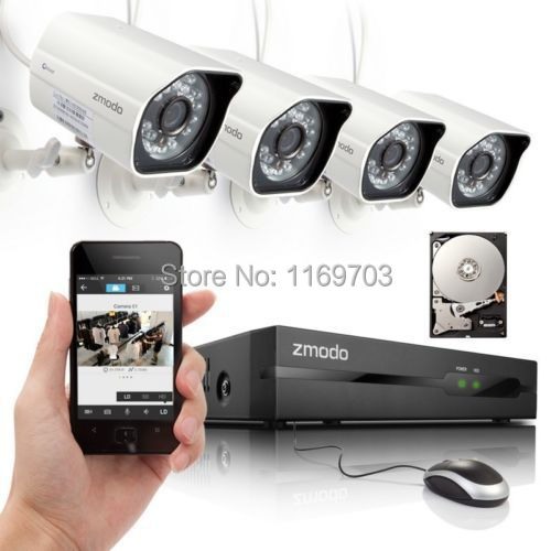 Details about Zmodo 4 720P HD IP Network PoE Outdoor