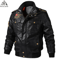 Осенне-зимняя мотоциклетная кожаная куртка для мужчин 5XL 6XL, мужская куртка-бомбер из искусственной кожи Jaqueta De Couro Masculina, мужская кожаная кур...