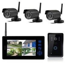 Freeship 2.4G Wireless Video de La Puerta Teléfono Home Video Vigilancia Sistema de Puerta Inalámbrico Al Aire Libre Cámara de Vídeo Foto Video Portero