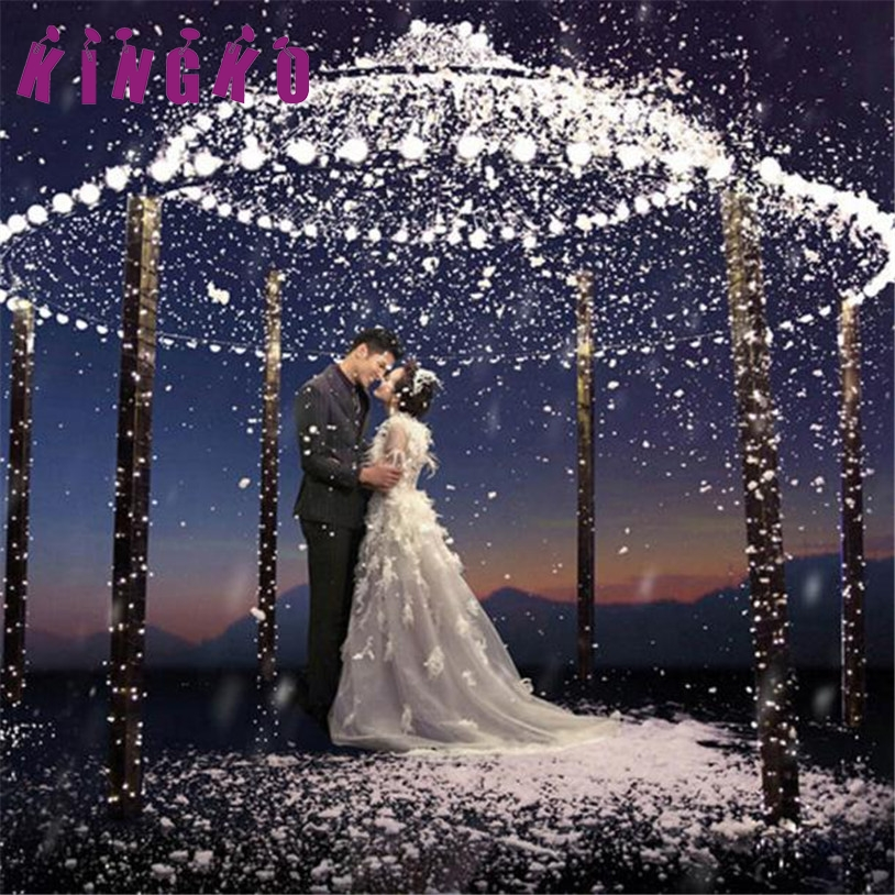 Kingko 20LED Snowflakes Hollow String Light Outdoor Christmas Party Decor Lamp Wedding holiday lighting string e61209 DROP SHIP
