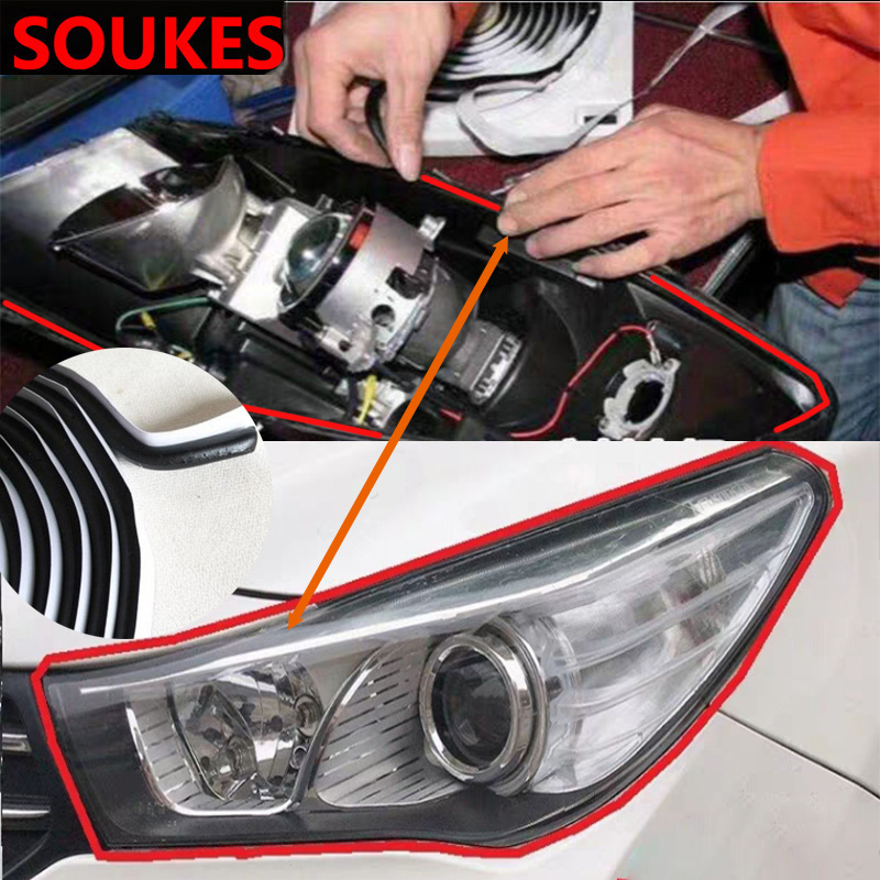 4M Modified Car Headlight Seal Adhesive Strip For Subaru Forester Impreza Kia Ceed Rio Citroen C4 C3 C5 Fiat BMW E70 G30 E30