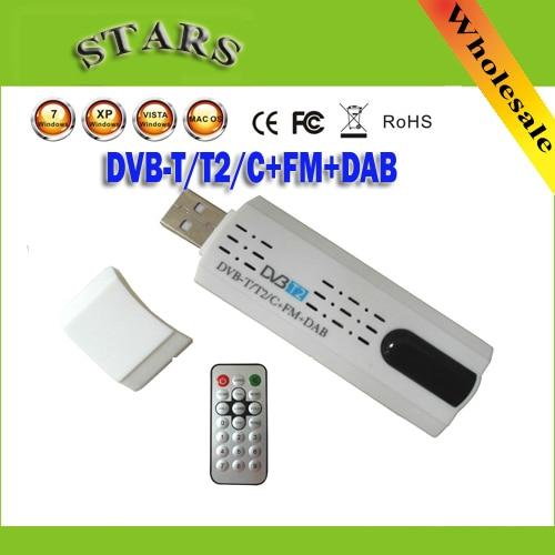 Antena Digital USB 2.0 HDTV TV Tuner Recorder & Receiver Remoto para DVB-T2/DVB-T/DVB-C/FM/DAB para o Portátil, Atacado Frete Grátis