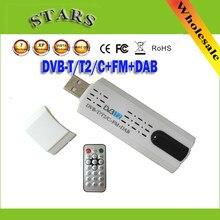 Antena digital usb 2.0 hdtv tv remoto sintonizador gravador & receptor para DVB-T2/dvb-t/DVB-C/fm/dab para computador portátil, frete grátis por atacado