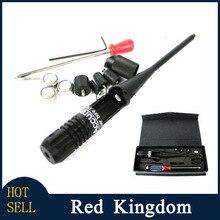 Tactical 650nm telescópica Red Colimador Laser Scope Sight bore. 22 a. 50 calibre Boresighter nuevo estilo 3 Colimador batería