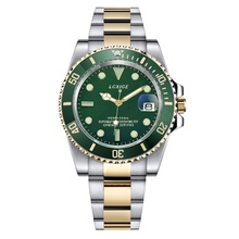 hot deal buy 2017 latest luxury role mens watches top brand military sport quartz watch green bezel mans waterproof steel gmt watches clock