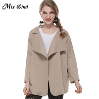 Mix Wind 2017 Autumn Women Outwear Coat Small Suit Windbreaker Coat Long Autumn New Korean Slim