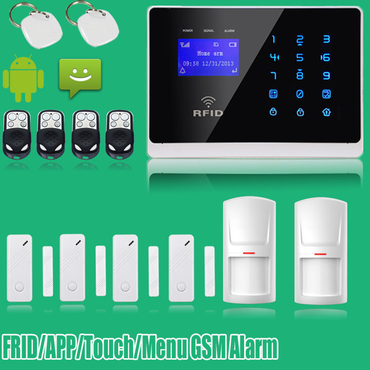 ANDROID IOS APP Wireless Wired GSM Alarm System GSM Touch keypad Security System with SOS door Detector wireless smoke fire detector for wireless for touch keypad panel wifi gsm home security burglar voice alarm system