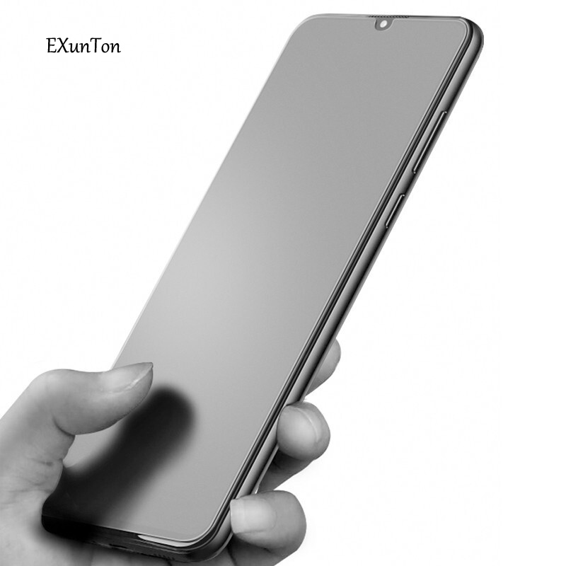 Exunton For Meizu Note 9 Note 8 Full Cover Matte Frosted Tempered Glass For Meizu Note 9 8 Anti-finger Screen Protective Film
