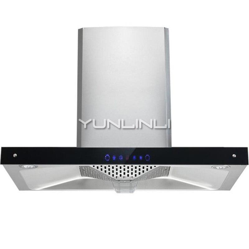 Gamme de ménage bois Top Type d'aspiration ventilateur de cuisine grande aspiration huile fumée échappeur CD-4D26