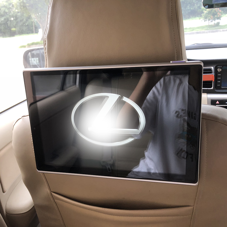 In Car DVD Player Daul Screen Headrest With Monitor For Lexus GX Class Android TV Screen 11.8 Inch 2PCS