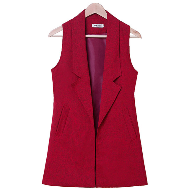 Women Jackets Elegant Coats Female Vests Colete Brand Turn-down Collar Feminino Coats Sleeveless Office Wear Top Quality S228