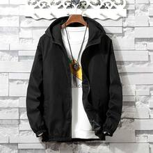 zozowang Jacket Men Spring and autumn Hooded Windbreaker Fashion Hop Brand Clothing Women coat Homme Plus Size XS-4XL