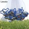 Lawaia 3m Fishing Net Fly Catch Casting Net American Hand Cast Net Have Sinkers Sports Hand Throw Network Diameter 2.4-3.6m