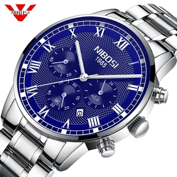 NIBOSI Relogio Masculino Quartz Mens Watches Top Brand Luxury Chronograph Business Clock Military Sport Watch Men Montre Homme