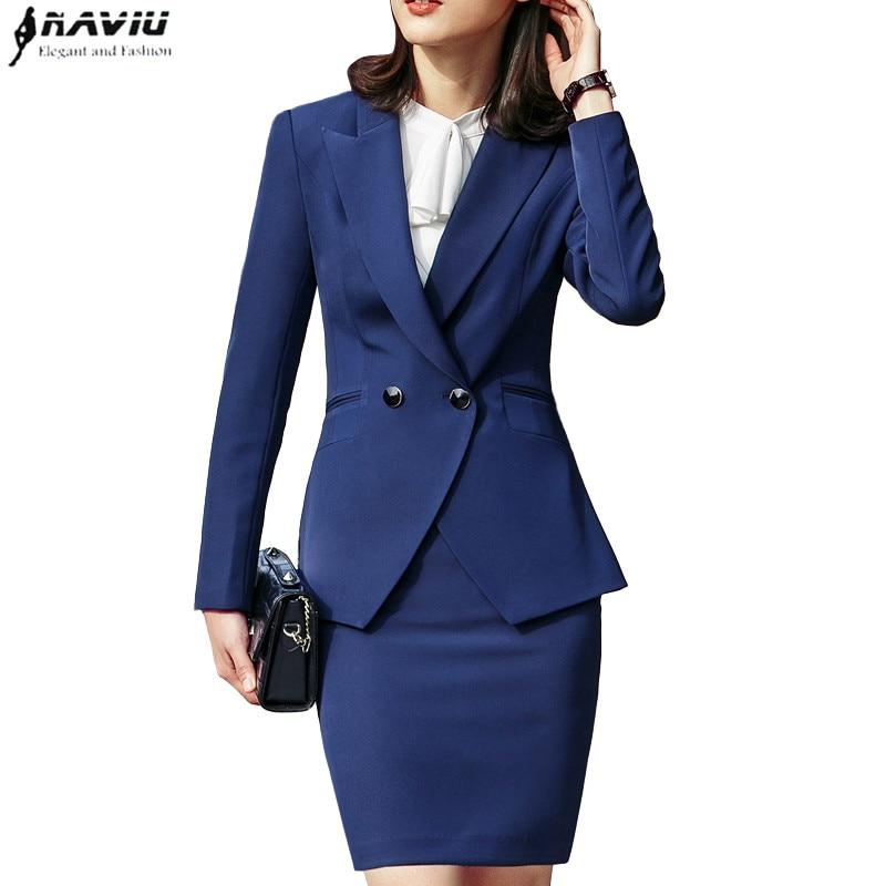 Sevem-D 2019 Fashion Suits Women Formal Business Long Sleeve Slim Blazer Trousers Office Ladies Work Wear