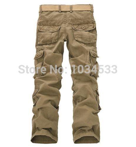 Лидер продаж! Для Мужчинs Военная Униформа Стиль Мотобрюки брюки-Карго работы Мотобрюки брюки хлопок дышащие свободные повседневные штаны ...