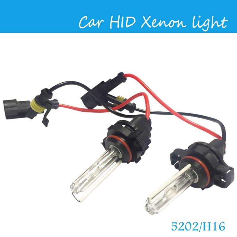 Бесплатная доставка, 2 шт./пара AC 12 В/35 Вт HID ксеноновая лампа 5202/H16 HID ксеноновая лампа, габаритные лампы 3000K 4300K 6000 K, автомобильные габаритные о...