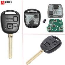Keyecu Nieuwe Afstandsbediening Autosleutelzakje 2 Button 304 Mhz 4D67 Voor Toyota Prado 120 2002-2004 P/N:60120 Gratis Programmering