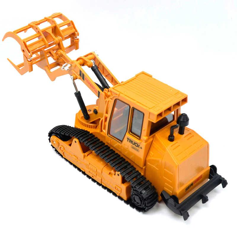 RC захват древесины конструирование грузовика гусеничный автомобиль 6CH дистанционное управление Grab деревянный 2,4G автомобиль игрушки со светом и звуком для детей мальчиков