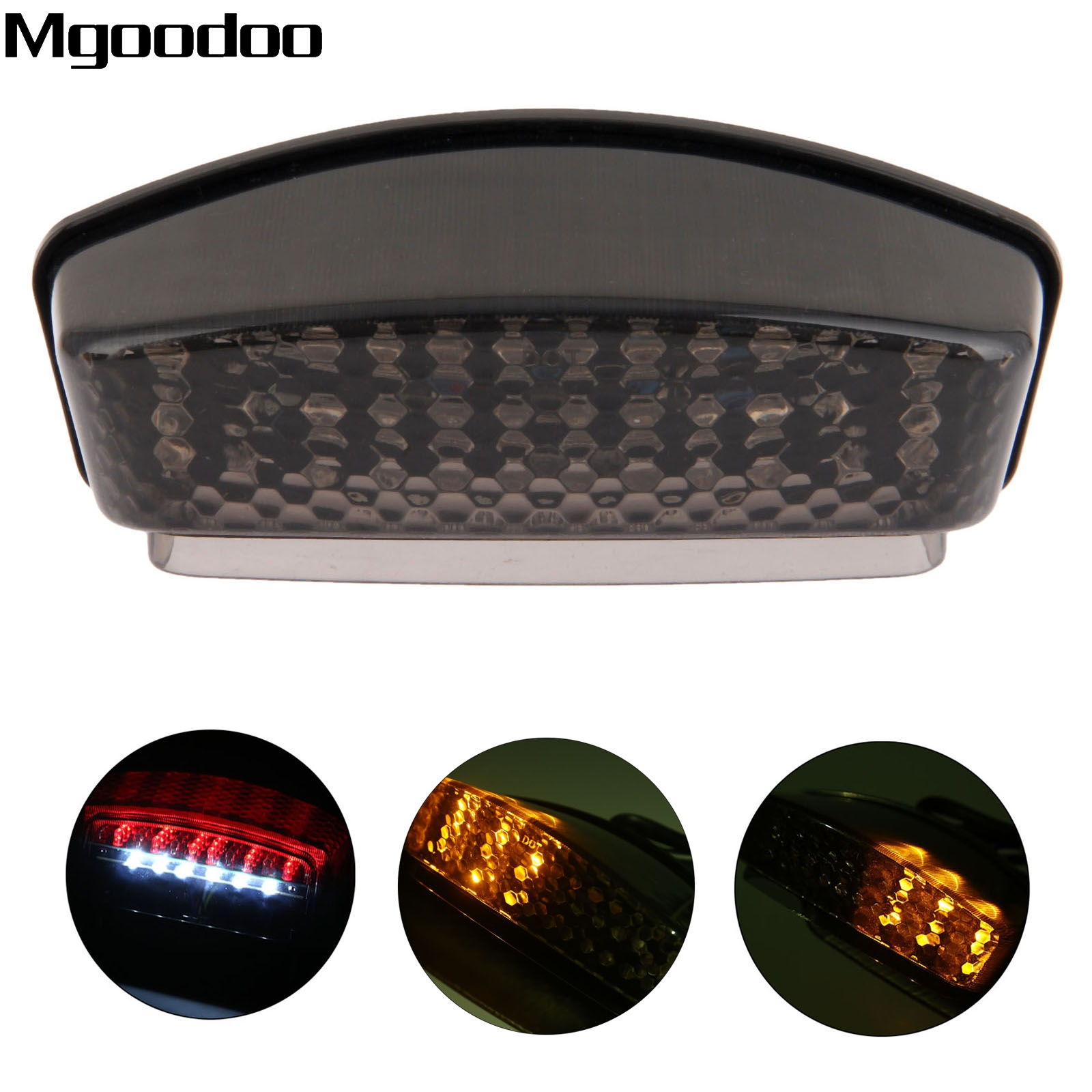 Mgoodoo Smoked Motorcycle LED Brake Tail Light Tailight Turn Signal Indicators For Ducati Monster 900 94-08 1000 S2R S4R S4 S4RS brake clutch lever for ducati monster s4 s4r 900 1000 multistrada 1000 1100 s2r 1000 motorcycle adjustable folding extendable