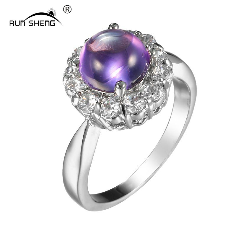 Unique Engagement Rings For Women: RUNSHENG Exquisite Luxury Fashion Simple Wedding Rings