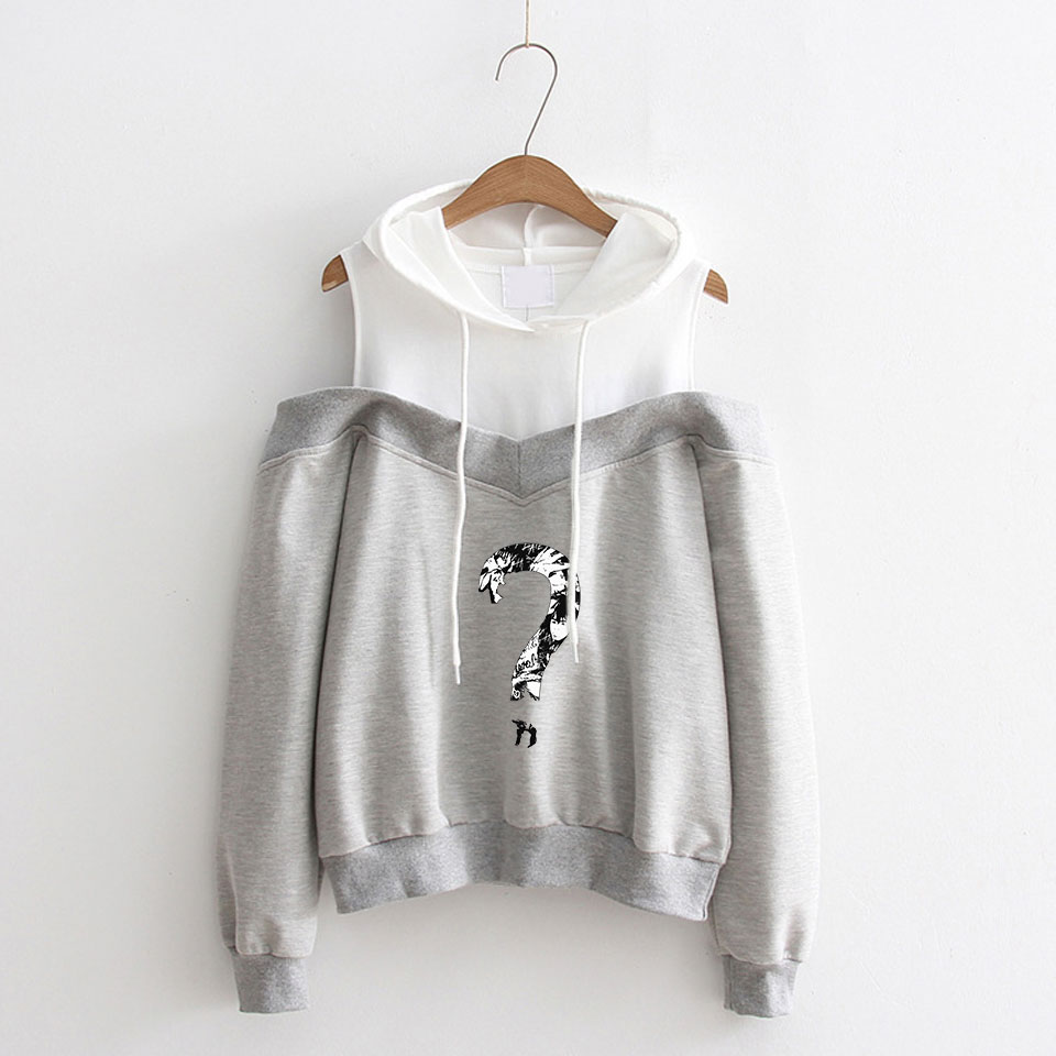 LUCKYFRIDAYF Hip Hop XXX Cool Print Women Idol Long Sleeve Hoodies Sweatshirts Off Shoulder Exclusive Women Album Hooded Clothes in Hoodies amp Sweatshirts from Women 39 s Clothing