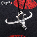 Beier новый магазин 100% 925 тайский серебряный стерлинг корова ожерелье способа высокого качества ювелирных изделий бесплатно дать веревку A2106