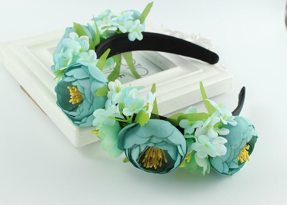 Amiable Bohemia Beautiful Bride Artificial Flower Wedding Bridal Hairpiece Diy Crown Floral Headband Festive Party Princess Headband