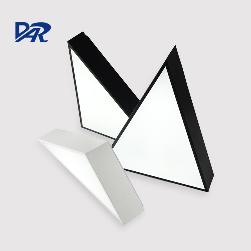 DIY Triangle Shape 12/18/24W Led Chandeliers Lights For Study Bedroom White/Black Iron Modern Led Ceiling Chandelier FixturesDIY Triangle Shape 12/18/24W Led Chandeliers Lights For Study Bedroom White/Black Iron Modern Led Ceiling Chandelier Fixtures