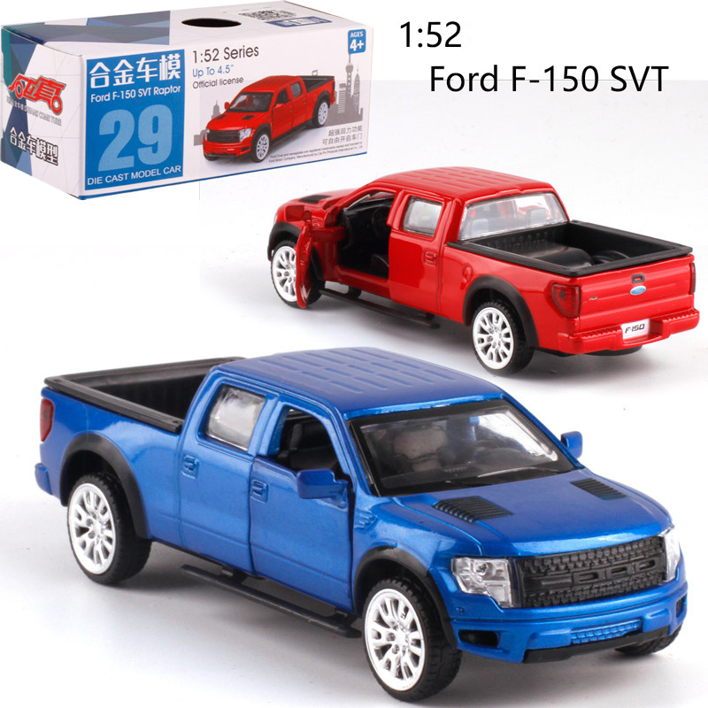 1:52 Scale Ford F150 Alloy Pull-back Car Diecast Metal Model Car For Collection Friend Children Gift