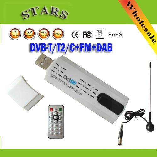 Digital satellite DVB t2 usb tv stick Tuner with antenna Remote HD TV Receiver for DVB-T2/DVB-C/FM/DAB USB TV Stick FreeShipping