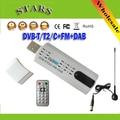 Satélite Digital DVB t2 tv usb HD TV Receptor del Sintonizador del palillo con antena Remota para DVB-T2/DVB-C/FM/DAB, Mayor El Envío Libre