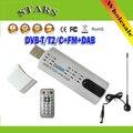 Usb Sintonizador de tv vara com antena de satélite Digital DVB t2 Receptor HD TV Remoto para DVB-T2/DVB-C/FM/DAB, Atacado Frete Grátis