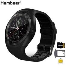 Reloj inteligente Bluetooth teléfono Mate pantalla redonda Smartphone llamada SIM Dial podómetro Smartwatch para Android IOS reloj inteligente