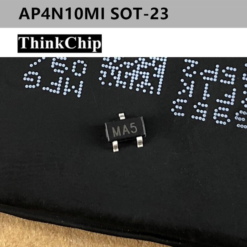 Free Shipping 50 Pcs / Lot AP4N10MI MA5 SOT-23 N-Channel 100V 5A (Ta) 1.4W (Ta) SMD Mosfet Transistor New Original