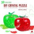 Flash 3D tres dimensiones cristal jigsaw bricolaje cumpleaños creativo de juguetes rompecabezas de regalo con luz de apple