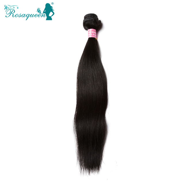 Brazilian Straight Hair Unprocessed 100% Human Hair Weave Natural Black Cheap 6A Brazilian Virgin Hair Straight Hair Extension