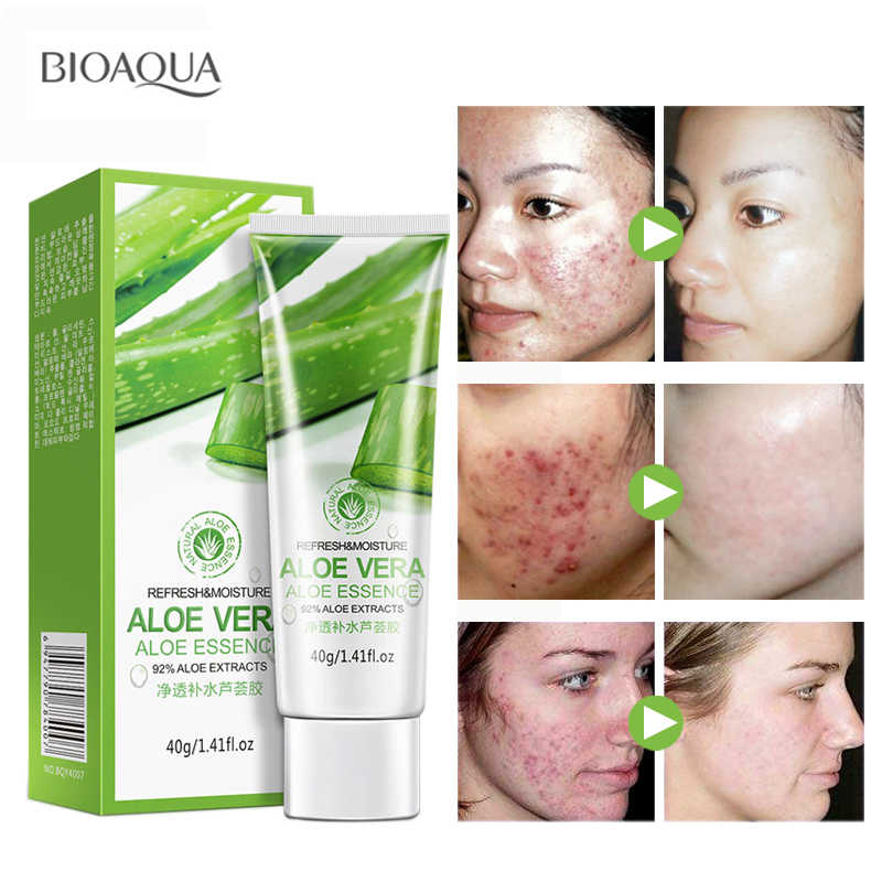 689f2c428c9 BIOAQUA Natural Aloe Vera Gel Face Moisturizer Whitening Anti Wrinkle Cream  Acne Scar Skin Sunscreen Acne