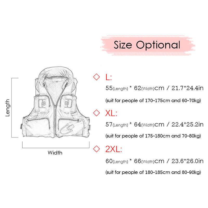 Outdoor Life Jacket Pelampung Memancing Renang Pelampung Berperahu untuk Pria Dewasa Air Rompi Olahraga Drifting Life Jacket Berlayar Bearing 110KG