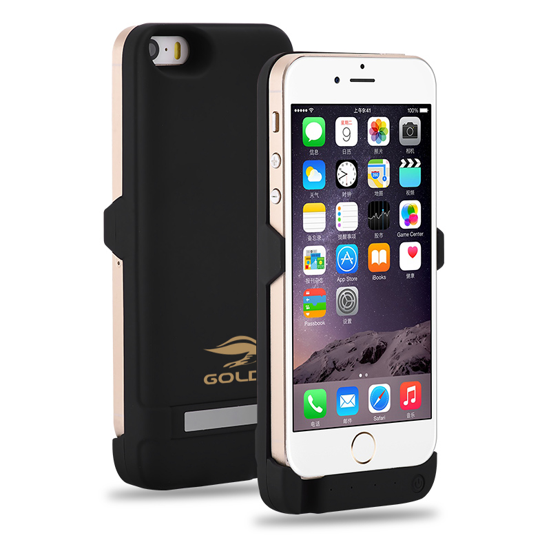 GOLDFOX External Rechargeable Battery Charger Case for iphone 5 5S 4200mAh <font><b>Power</b></font> Bank Battery Case Charging for iphone 5 5s SE