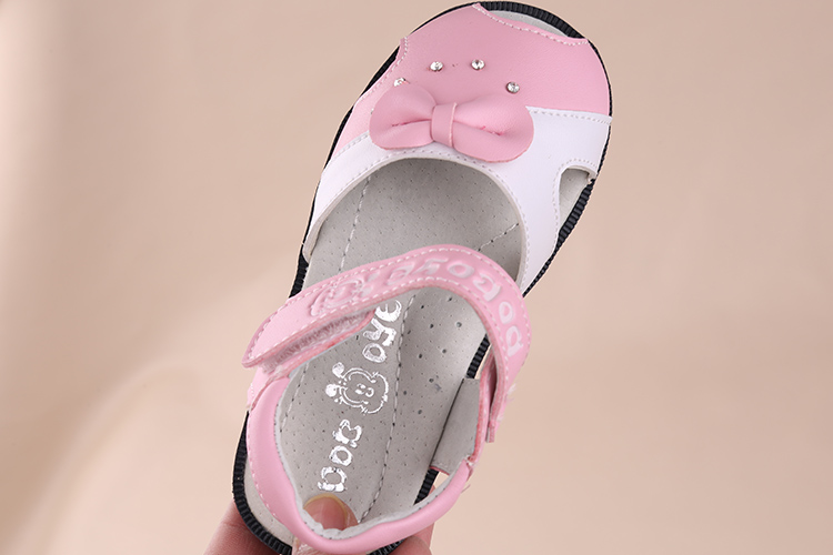 Free Shipping 1 pair Children Sandals Genuine Leather girl Orthopedic shoes, Kids/childs Summer Shoes