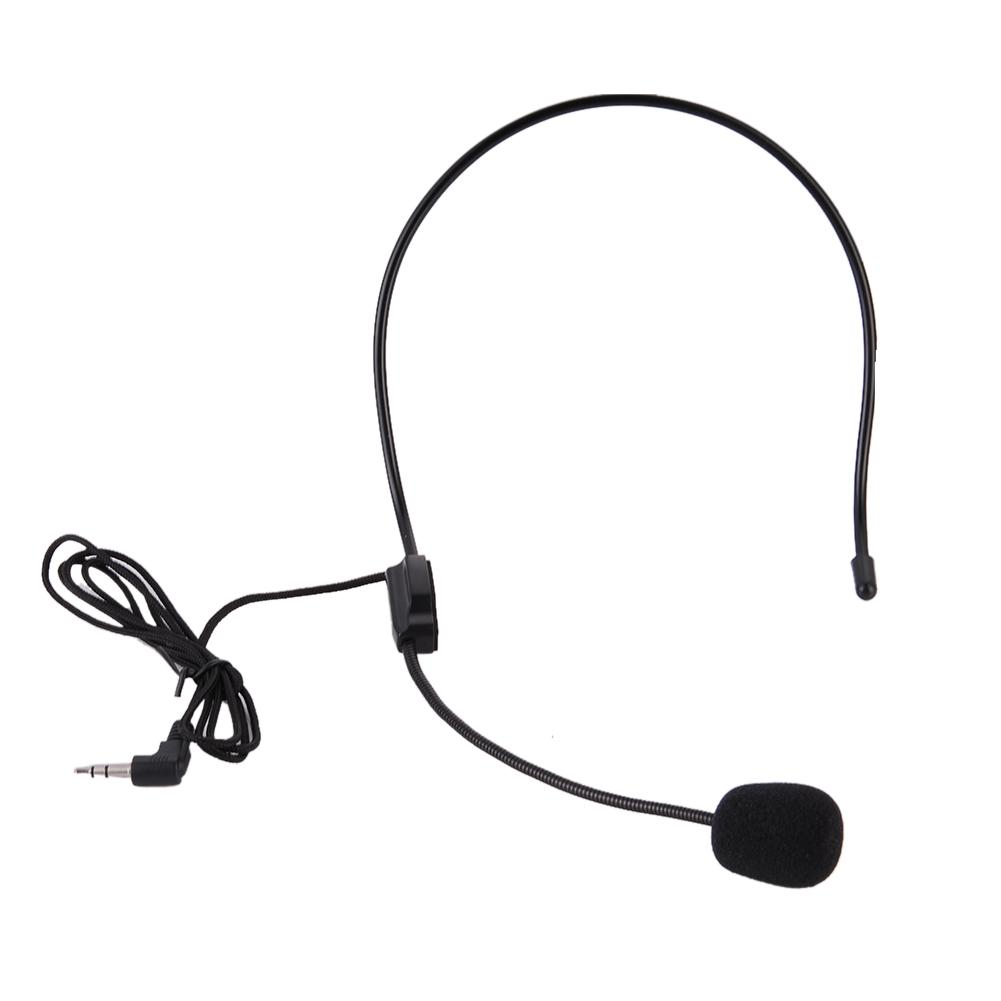 New Head Mounted Headworn 3 5mm Headset Microphone Mic