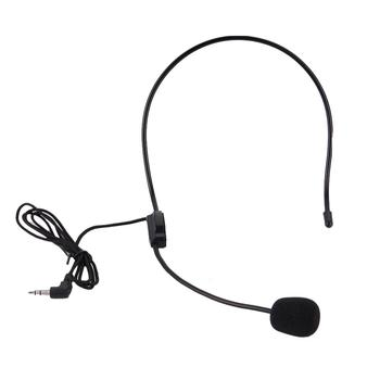 New Head-mounted Headworn 3.5MM Headset Microphone Mic Flexible Wired Boom For Speaker Teaching Voice Головная гарнитура