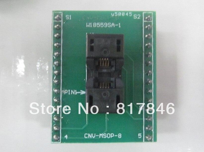 Livraison gratuite!!! MSOP-8 MSOP8 adaptateur universel pour prises adaptateur USB programmeur IC