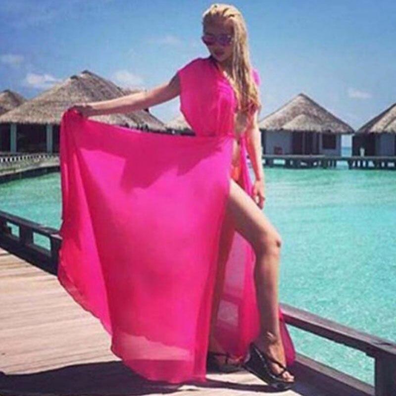 Fluorescent vert manches paréo Plage couvrir Floral Bikini couvrir maillots De bain femmes Robe De Plage Plage maillot De bain couverture Ups