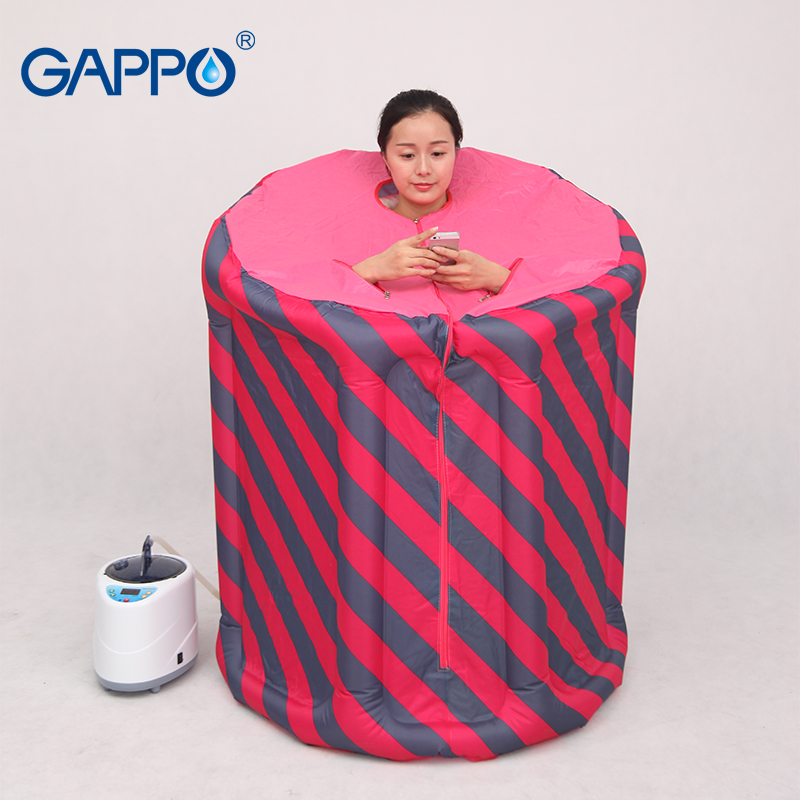 sauna accessory pvc frame sauna pvc fram tube for steam sauna GAPPO Steam Sauna Portable Inflatable indoor Steam Beneficial skin sauna suits for weight loss Home Sauna Rooms bath SPA